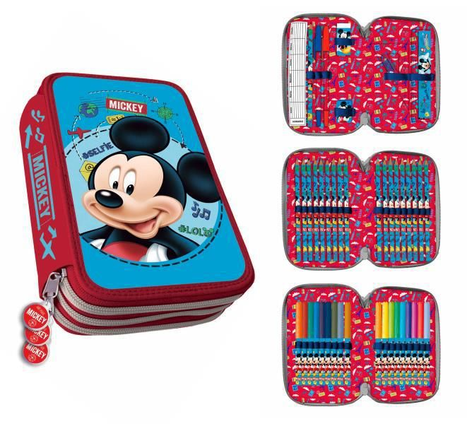Plumier 3 cremalleras std. mickey clamshell