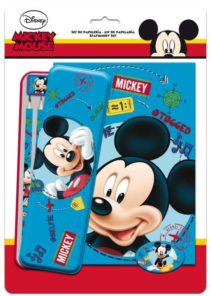 Set papelería + coloreable mickey