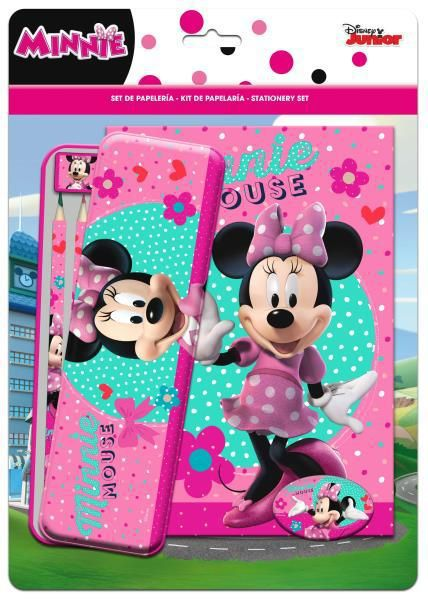 Set papelería + coloreable minnie