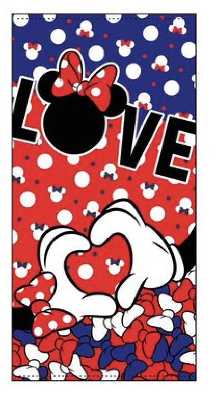 Toalla  microfibra minnie love