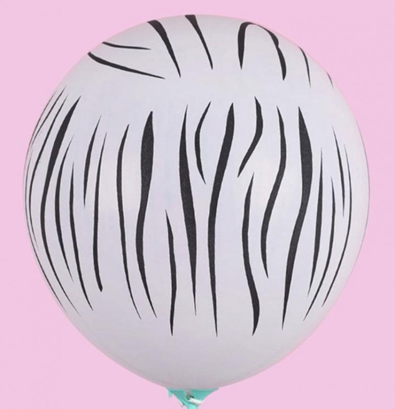 Globos latex cebra pack 10
