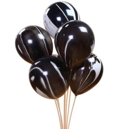 Globos latex degra. negro pack 10