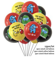 Globos latex among us 15pcs