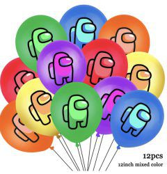 Globos latex among us 12pcs