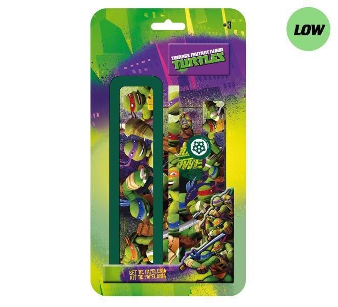 Blister plumier 6 pzs. ninja turtles