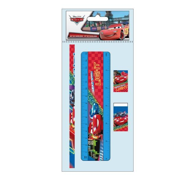 Blister papeleria 5 pzs. cars