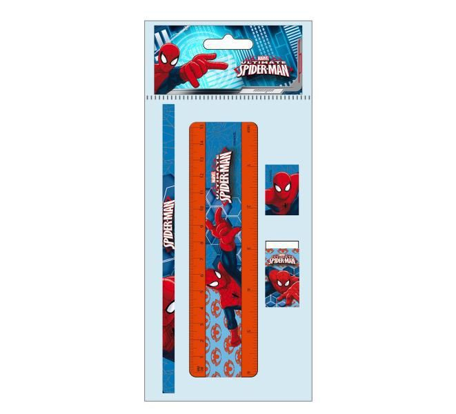 Blister papeleria 5 pzs. spiderman