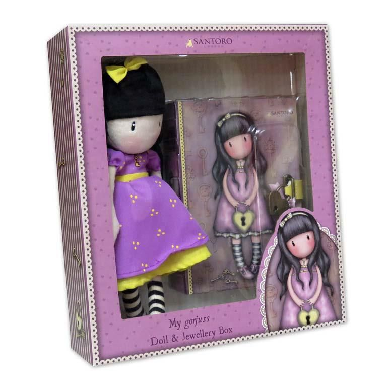 Set regalo muñeca+joyero c/candado the secret gorj