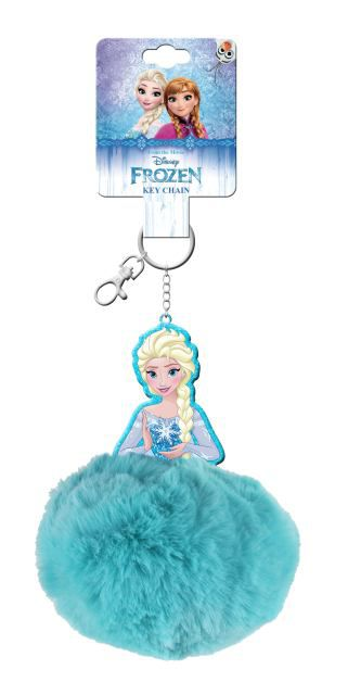 Llavero pompon en display 12u frozen
