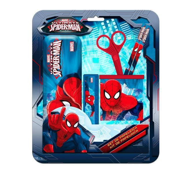 Set estuche y portalapices spiderman