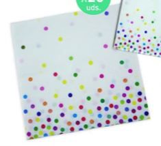 20 servilletas 33x33cm. dots multicolor