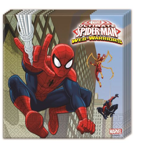 Servilletas 33x33 spiderman web w. (20und)