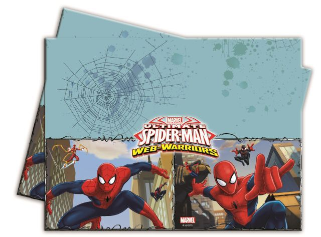 Mantel plastico 120x180cm spiderman web w. (1und)