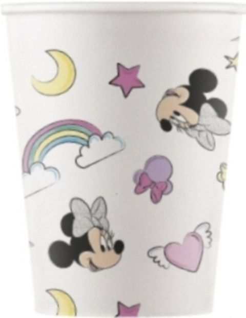 Vasos papel 200ml minnie unicornio compostable (8u