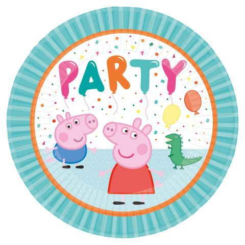 *platos 23cm peppa pig party (8)