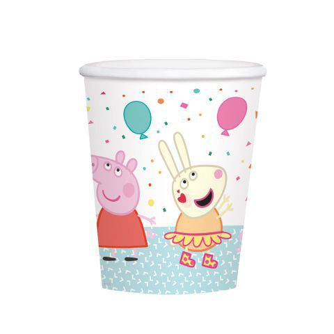 *vasos papel 250ml peppa pig party (8)
