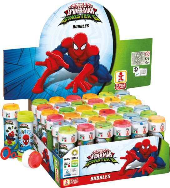Tubo pompas jabon 60 ml. spiderman