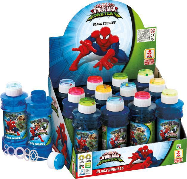 Tubo pompas jabon 300 ml. spiderman