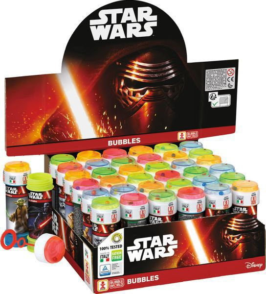 Tubo pompas jabon 60 ml. star wars