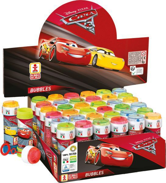 Tubo pompas jabon 60 ml. cars 3