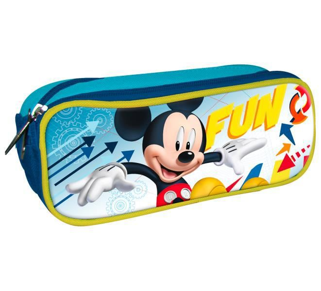 Portatodo doble cremallera 220x62x82 mm mickey