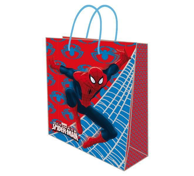 Bolsa papel l 26x10x32 spiderman