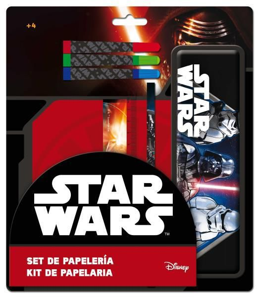 Set papeleria con estuche metalico star wars_1