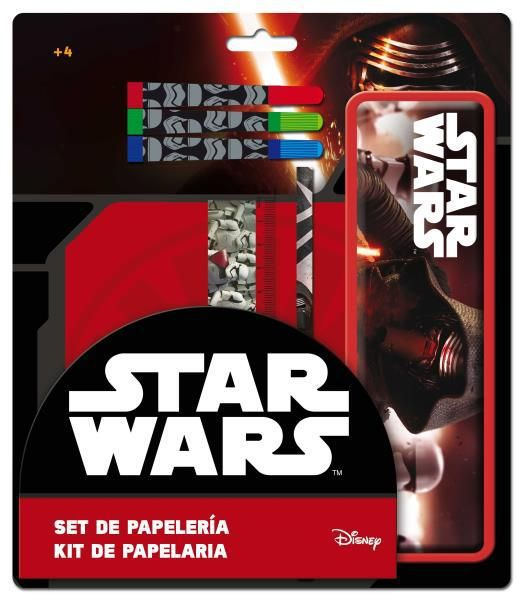 Set papeleria con estuche metalico star wars_2